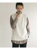 Harley of scotland×UR SHAGGY KNIT CREW VEST