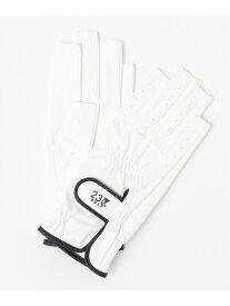 23区GOLF 【WOMEN】BASICネイルケアグローブ ニジュウサンクゴルフ ファッショングッズ 手袋 ホワイト ネイビー【送料無料】