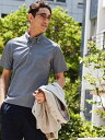 UNITED ARROWS green label relaxing 【WORK TRIP OUTFITS】ドライ バーズアイ ボタンダウン ポロシャツ《吸水速乾・…