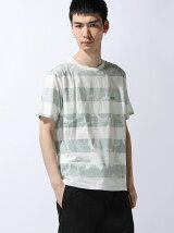 Basic Cotton Inside Wave Pattern Border Tee
