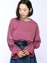 【Dukkah】(L)刺繍キャンディスリーブTシャツ