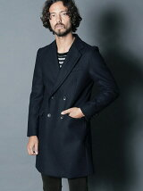 WOOL MELTON W CHESTER FIELD COAT