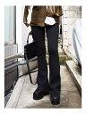 EMODA フィットフレアパンツ エモダ パンツ/ジーンズ フルレングス ブラック ブラウン【送料無料】
