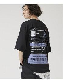 【SALE/30%OFF】MIHARA YASUHIRO Jusitfied error eye プリントティーシャツ ステュディオス カットソー Tシャツ ブラック ホワイト【送料無料】