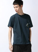 Basic Cotton Wave Feather Pocket Tee