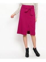 ウエストマークラップデザインスカート