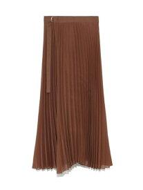 Mila Owen タック風プリーツSK ミラオーウェン スカート プリーツスカート/ギャザースカート ブラウン【送料無料】