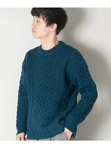 MERINO WOOL ARAN SWEATER