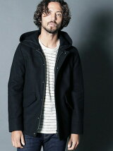 WOOL MELTON MILITARY HOOD COAT