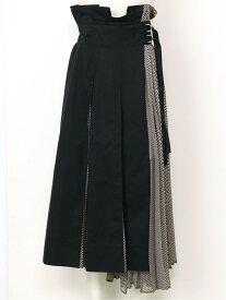 【SALE/45%OFF】SNIDEL プリーツコンビフレアSK スナイデル スカート プリーツスカート/ギャザースカート ブラック ブラウン ベージュ【送料無料】