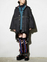 2WAY DENIM FOODIE COAT