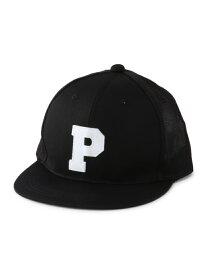 PLAYDESIGN (U)CLASSIC P MESH CAP プレイデザイン 帽子/ヘア小物 キャップ ブラック【送料無料】