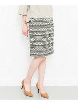KBF+ ジャガードタイトスカート