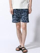 Canvas Wave Pattern Short Pants