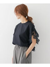 mizuiro-ind asymmetry point lace pullover