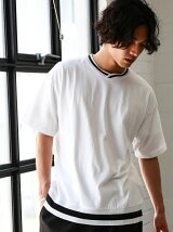 KC LINE/RIB C/N S/S Tシャツ/カットソー