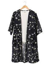 SET2点 花柄ロングカーデ+Tシャツ