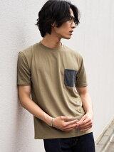 【WEB限定】SC ★★ドライ コンビカラー クルー Tシャツ <機能性生地> 吸水速乾