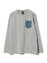 【SPECIAL PRICE】BEAMS T / Border Pocket Long Sleeve Tee
