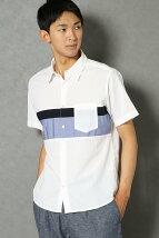 SP S/Sチェストキリカエシャツ