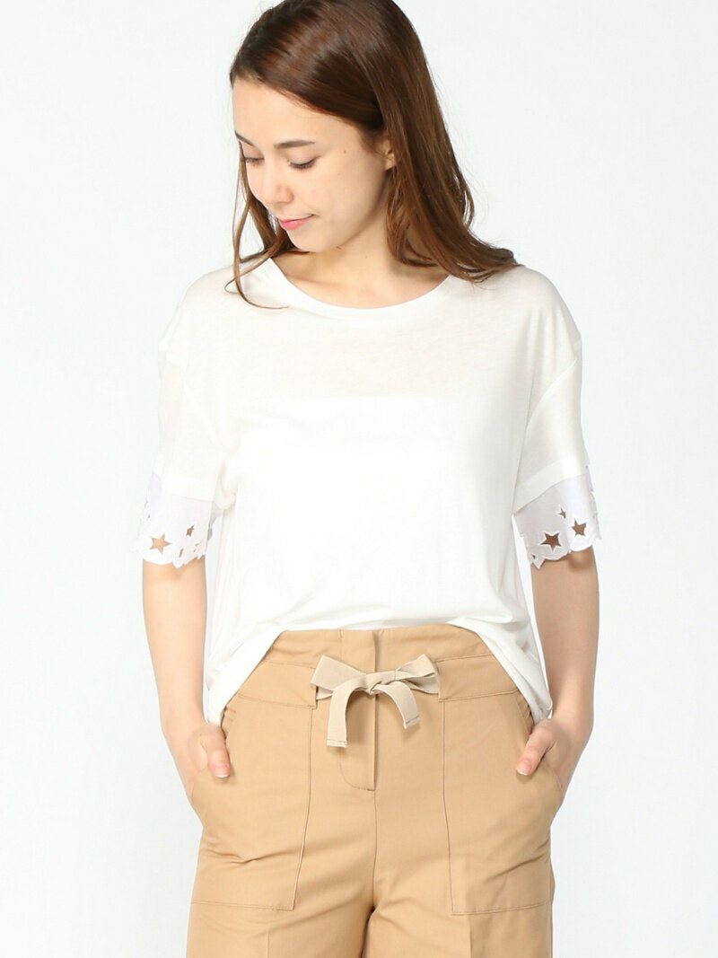 【SALE/40%OFF】TOMMY HILFIGER ABNER C-NK LACE TOP SS トミーヒルフィガー カットソー【RBA_S】【RBA_E】【送料無料】