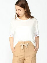 ABNER C-NK LACE TOP SS