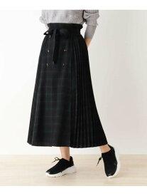 【SALE/44%OFF】SHOO・LA・RUE 【S-L/洗える】チェック柄前ボタンプリーツスカート シューラルー スカート ロングスカート ブラック ブラウン