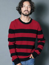 LAMB WOOL ROYAL RIB BOADER KNIT