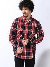 (M)フランネルチェックシャツ長袖
