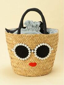 a-jolie a-jolie/パールサングラス扇形ミニカゴバッグ アジョリー バッグ かごバッグ ベージュ【送料無料】