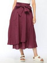 (W)ラップロングスカート