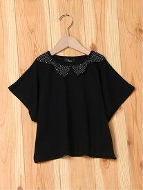 【SALE/70%OFF】unica リボン衿Tシャツ 110~140 ユニカ カットソー キッズカットソー ブラック ホワイト