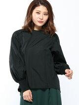 RAW FUDGE/袖リブ異素材切り替えシャツ