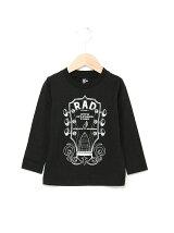 40/2天竺ギタープリント長袖Tシャツ
