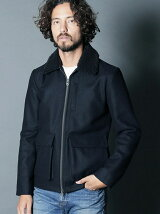 WOOL MELTON BOA TYPE G-1 JKT