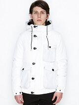 HOODED BOXPOCKET JACKET_DOWN