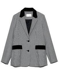 Lily Brown テーラードジャケット リリーブラウン コート/ジャケット テーラードジャケット ブラック レッド【送料無料】