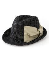 ONTROL FREAK×Ray BEAMS / 別注 ラフィア リボン ハット レイ ビームス 帽子