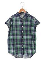lil nina チェックフレンチシャツ