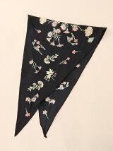 ボタニカルプリント菱形スカーフ