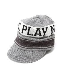 PLAYDESIGN (U)PLAY VISOR KNIT プレイデザイン 帽子/ヘア小物 帽子その他 グレー カーキ ブルー【送料無料】