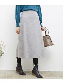【SALE/60%OFF】ROPE' PICNIC ウール混フラノロングスカート ロペピクニック スカート スカートその他 グレー ブラウン ネイビー