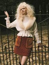 キルティングファーポケットスカート