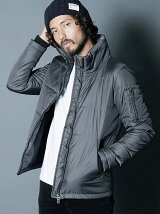 NYLON THINSULATE STAND MILITARY BLOUSON