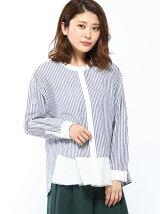 RAWFUDGE/裾ふらしストライプシャツ