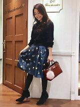 シャンタン刺繍スカート