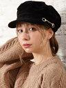 【SALE/60%OFF】INGNI ビット付きマリンキャスケット イング 帽子/ヘア小物 キャップ ブラック グレー ブラウン