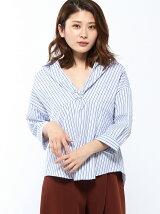 RAW FUDGE/前ねじりストライプスキッパーシャツ