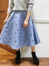 小花柄フレアスカート