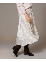 サテンマーメイドラインスカート